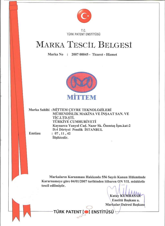 4.MARKA TESCİL BELGESİ